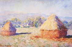 Claude Monet, Grainstacks in the Sunlight, Morning Effect, 1890, oil on canvas…