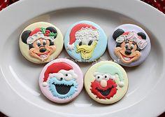 christmas cookies mickey minnie donald