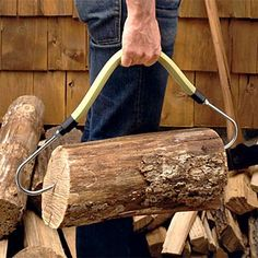 """24"""" Fireplace Log Carry Tool  An ingeniously simple solution  Made in the USA"""