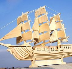 Cheap puzzle, Buy Quality ship directly from China puzzle buildings Suppliers: BOHS Wooden European Sailing Boat Ship Puzzle Building Scale Model & Building DIY Toys