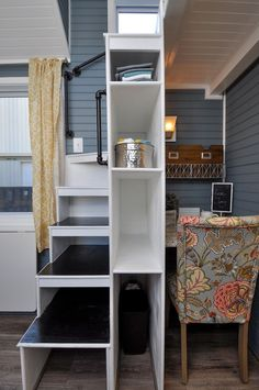 Tiny House Storage, Small Tiny House, Tiny House Living, Tiny House Plans, Tiny House On Wheels, Living Room, Tiny Houses, Tiny House Ideas Kitchen, Tiny House Kitchens