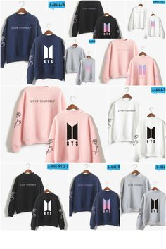 e1fdbae5fb BTS Love Yourself Hoodies Sweatshirts- all colours and sizes available. Bts  Love Yourself