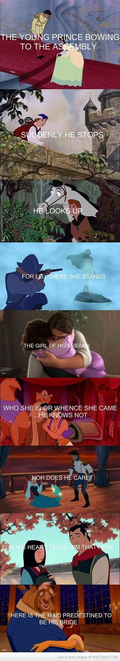 The Way Eugene Holds Rapunzel.