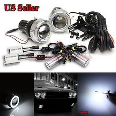 "For vw usa 3"" #projector fog #lights+white led angel eyes+55w slim #6000k hid kit,  View more on the LINK: 	http://www.zeppy.io/product/gb/2/122101245317/"