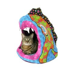 Personalized Custom Art Pet Bed for your best little friend  cat bed - dog bed - cat condo -pet beds