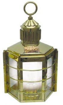 Clipper-Lampe Messing, elektrisch 230V, H: 33cm