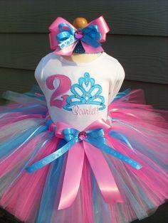 Custom Tutus...TIARA  SPARKLE... birthday tutu by fairyfashions, $65.00