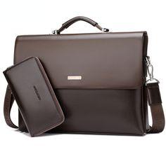 New Mens Leather Briefcase Bag Handbag Shoulder Bag -5  fashion  clothing   shoes 236748f697186