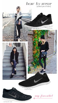 {How To Wear} Black Nikes