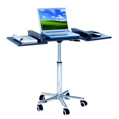 Foldable Table Laptop Cart Mobile Desk EURO Style Stand Portable Rolling Wheel in Home & Garden, Furniture, Desks & Home Office Furniture Portable Computer Desk, Adjustable Computer Desk, Laptop Desk For Bed, Laptop Tray, Lap Desk, Laptop Table, Laptop Stand, Portable Workstation, Desk Bed
