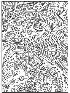 Paisley Coloring Pages for Adults | Welcome to Dover Publications