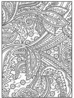 doodles Paisley 7048   coloriage à imprimer