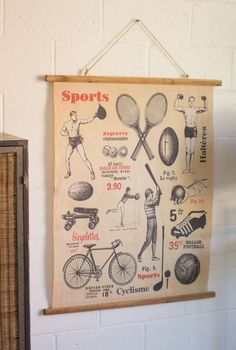 Vintage Style School Sports Banner