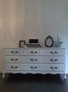 French Provincial vintage dresser. Looks almost identical to the one we purchased for the nursery.