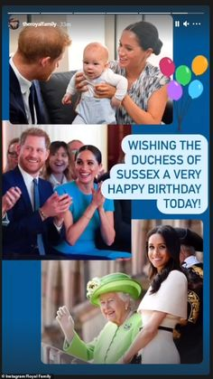 Harry And Meghan News, Prince Harry And Meghan, Prince And Princess, Happy Birthday Today, Birthday Wishes, Family Wishes, Photos Of Prince, Prince Charles And Camilla, Meghan Markle