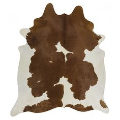 Brown & White Cow Hide Rug by Network Rugs. Get it now or find more All Rugs at Temple & Webster. White Cowhide Rug, White Rug, Cowhide Rug Kitchen, Thing 1, Cow Skin, Leather Pattern, Cow Hide Rug, Rugs Online, Rug Size