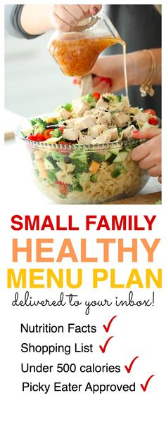 healthy eating can be easy and delicious sign up to receive a weekly menu