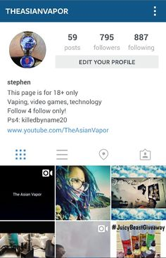 Follow me on instagram @theasianvapor