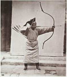 A Manchu Archer, from the North of China, with his bow and arrow, a photograph John Thomson from his Illustrations of China and its people (1874) – Source: Wellcome Library, London. - See more at: http://publicdomainreview.org/collections/the-wellcome-librarys-top-10-open-images/#sthash.4buPNmlU.dpuf