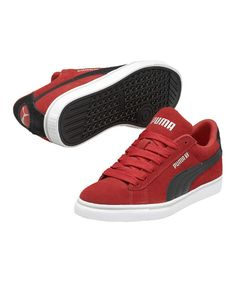 Take a look at this High Risk Red S Vulc Suede Junior Sneaker on zulily today!