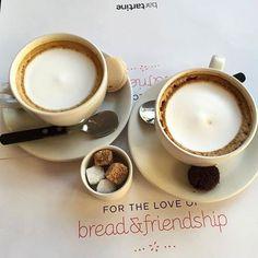 Enjoy a stirring conversation BarTartine #BreadAndFriendship #Coffee #BeautifulMorning