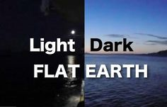 Day and night side by side on a FLAT EARTH