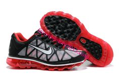Mens Nike Air Max 2011 Black White Red Sneakers