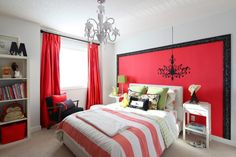 Decorating:Bedroom Decor Ideas For Women That Looks Cozy And Chic Amazing Bedroom Ideas For Women With Red Curtains And Striped Bedding Style
