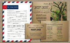 Wedding invitation, Long distance relationship inspired.