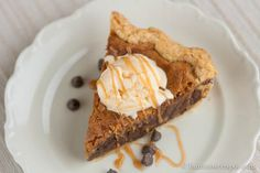 Tollhouse Pie, the flavor of a chocolate chip cookie, but with the texture of pecan pie. Ooey and gooey.