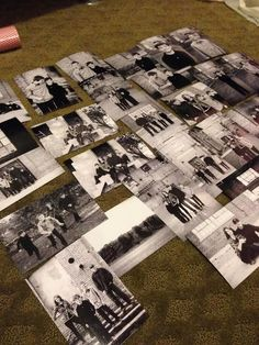 DIY Photo Gift   Christmas, Holiday, Mothers Day, Birthday, Anything! Metal letters, black & white photos and modge podge!