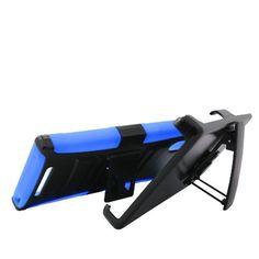 ZMAX Z970,RUGGED HYBRID BLUE/BLACK PLASTIC HARD CASE WITH BELT CLIP HOLSTER