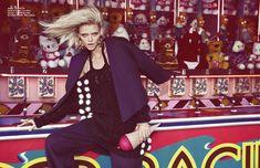 Jumper / Brandon Sun Jacket & Trouser / Lisa Perry Earrings / Kenneth Jay Lane Ice Cream Pochette / Betsy Johnson