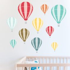 Hot Air Balloon Wall Stickers for a nursery...not usually into the wall decals but these adorable