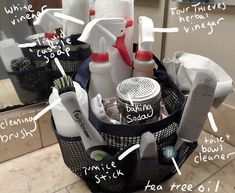 How to Make Your Own Natural Cleaning Tote - Just So
