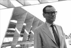 Affonso Eduardo Reidy em visita à obra em 1950, fonte Livro Affonso Eduardo Reidy, Ed. Blau
