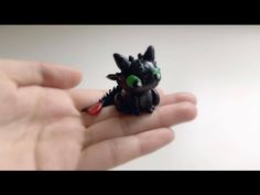 Baby Toothless | Polymer Clay Tutorial - YouTube JinjinCrafts