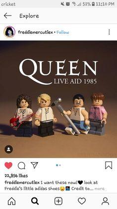 Shut up and take my money! Minifigura Lego, Brian Rogers, Queen Meme, 5sos, Lego People, Queen Art, Queen Freddie Mercury, Queen Of England, Music Memes