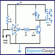 Soil Moisture Sensor Circuit Diagram | The 956 Best Electronic Circuits Images On Pinterest In 2018