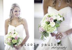 Sweet wedding, wedding bouquet  pink light green white