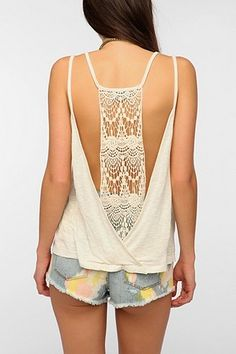 $39.00 Staring At Stars Low Crochet-Back Cami - Urban Outfitters - Coachella Study Guide