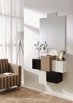 Recibidor Moderno Covelo Console Table Living Room, Living Room Decor, Bedroom Decor, Console Tables, Cool Furniture, Furniture Design, Dressing Table Design, Interior Design Inspiration, Entryway Decor