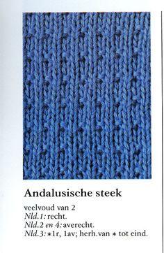 Andalusische steek 001 - Breisteken