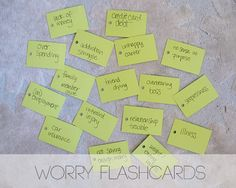 Worry flashcards - great way to clear your mind and better communicate what's stressing you w/ your partner