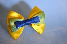 Inside Out Joy inspired Disney hair bow por AwayWeGoBows en Etsy