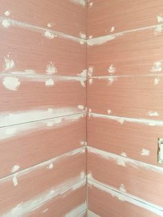 Plywood is the cheap and easy way to get that shiplap look. This tutorial shows just how easy it is for you to achieve the coveted look of shiplap walls! Cheap Plywood, Plywood Walls, Painting Plywood, Tongue And Groove Walls, Wall Nails, Plank Walls, Plaster Walls, Exterior Siding, Architecture