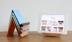 For me - orange - ipad stand tablet stand recipe holder metal by petrifieddesign, $48.00