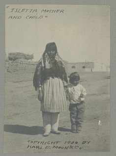 Isleta mother and son – 1906