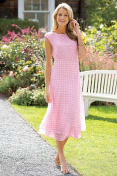 Dot Print Dress By Jg Hook | Chadwicks of Boston