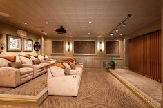 raise floor for second sofa-theater style.Basement Photos Design, Pictures, Remodel, Decor and Ideas - page 32